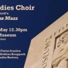 Voci Choir performing at the Medieval Museum on Sunday the 13th May at 12.30pm.