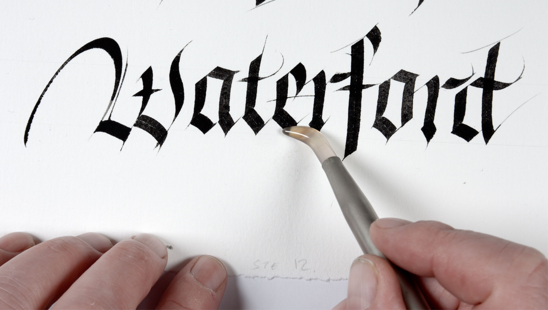 Waterford by world famous calligrapher Denis Brown