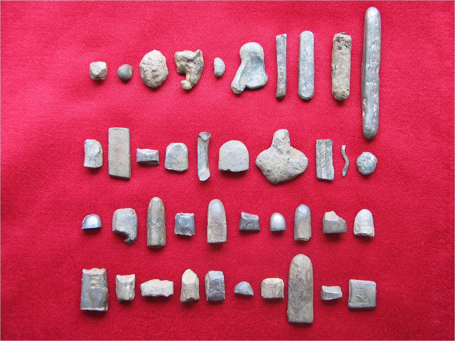 Silver fragments and hacksilver found at Woodstown